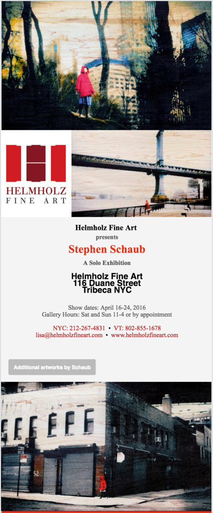 SCHAIB SOLO SHOW NYC