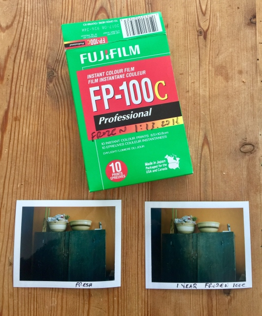 Fuji FP 100 Compare Frozen to Fresh