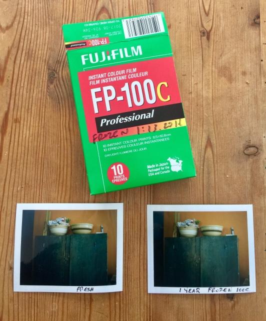 Fuji FP 100 Compare Frozen to Fresh